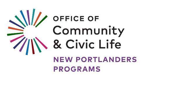 Logo for the Office of Community & Civic Life New Portlanders Program