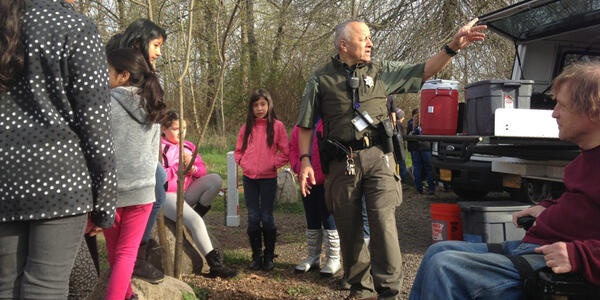 Park Ranger David Barrios leads an inclusive outing in Forest Park