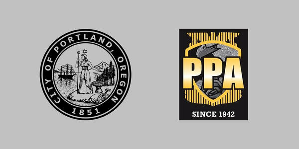 City of Portland seal next to Portland Police Association Logo