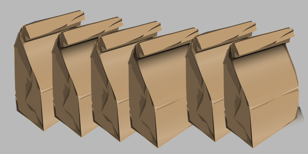 Illustration of lunch sacks