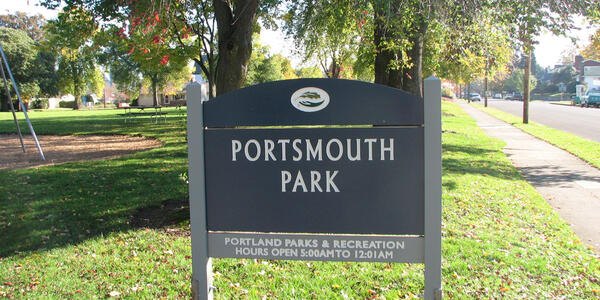 Portsmouth Park Sign