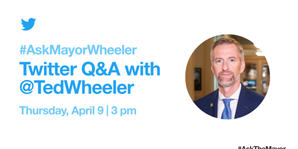 Twitter Q&A With Mayor Ted Wheeler, Thursday, April 9 at 3pm