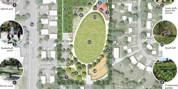SE 150th & Division Street Park Design Drawing