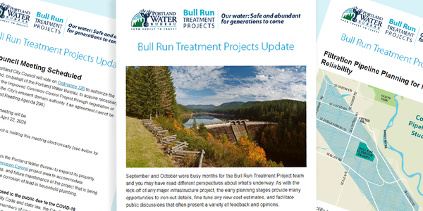 image of e-newsletters for the bull run treatment projects