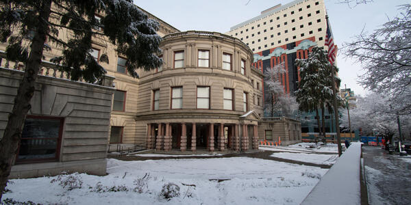 Portland City Hall in the Snow