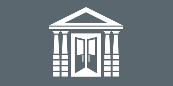 The logo of the Auditor's Office is an illustration of City Hall's doors opening and symbolizing openness and transparency.