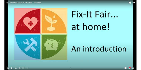Screenshot of Fix-It Fair at home YouTube landing page