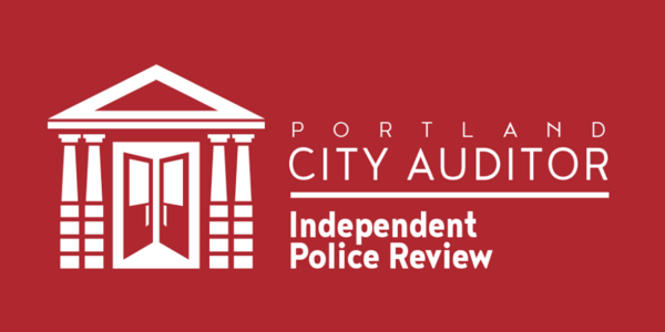 The logo of Independent Police Review is an illustration of City Hall's doors opening and symbolizing openness and transparency.