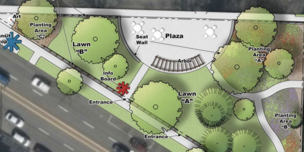 A rendering of the proposed Laurelwood Park design.