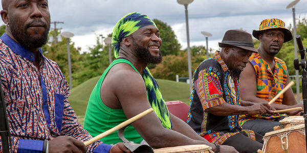African drummers - Alex Addy and Okropong at Gateway Discovery Park