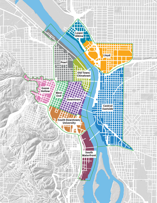 Map of Portland's Central City