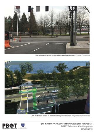 Views of SW Jefferson improvements