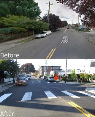 SE 50th Avenue before and after