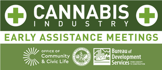 Cannabis Early Assistance Meetings banner.