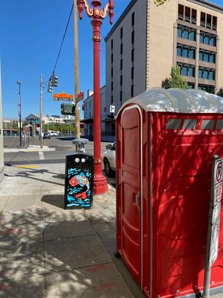 Portable toilet in the Old Town/ Chinatown area