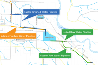 Preferred pipeline alternatives identified in Oct. 2020 for the Bull Run Filtration Project