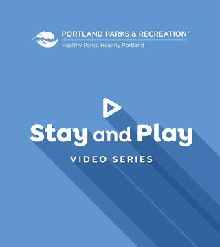 Portland Parks Stay & Play video series (blue logo)