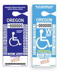Wheelchair and Wounded Warrior placards that can be used at Wheelchair User parkin spaces.