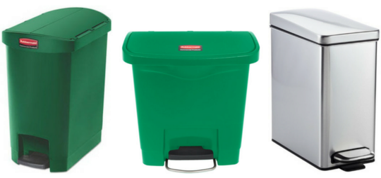Three compost containers