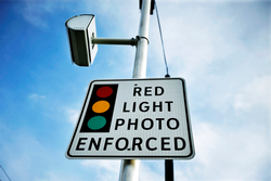 Photo of a red light photo sign
