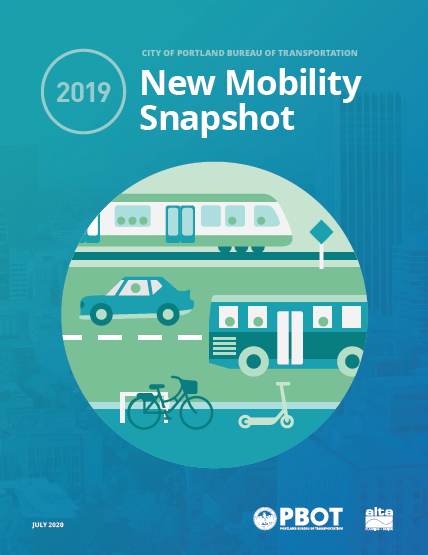 Cover of the 2019 New Mobility Snapshot report