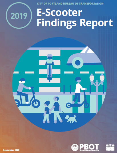 Cover of the 2019 E-Scooter Findings Report.