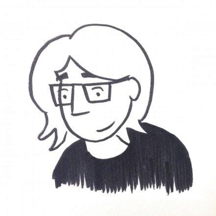 Illustration of woman with glasses