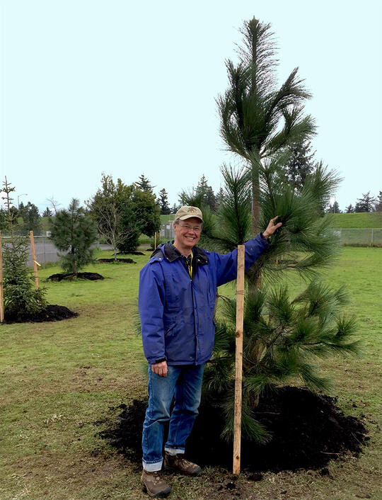 Bill Naito Community Trees Award Recipient 2019 - Tom Ralley at Lent School Learning Landscape