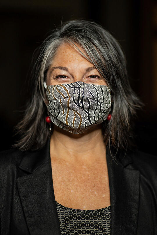 Image of Kellie Torres wearing her mask
