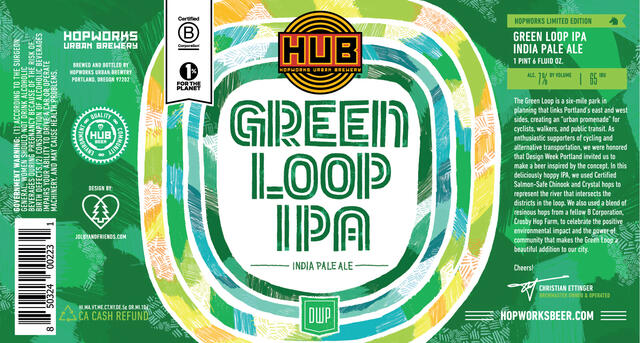 "A label for a ""green loop"" beer"