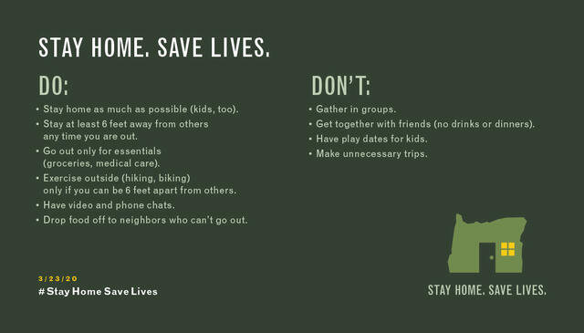 Stay Home. Save Lives infographic. Do and Don't