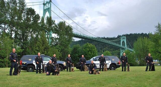 Photo of members of the police Canine Unit