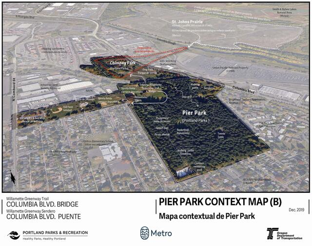 Pier Park and Chimney Park Context Map
