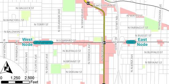 Lombard Pedestrian Enhancements project map
