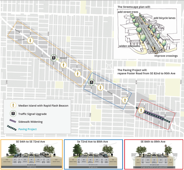 Foster Road Streetscape Project map