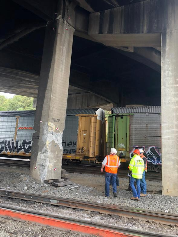 PBOT crew works under bridge