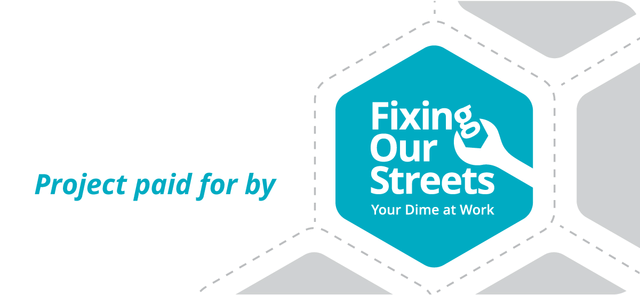 Project paid for by Fixing Our Streets: Your dime at work.