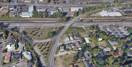 NE 42nd Avenue Bridge Aerial View