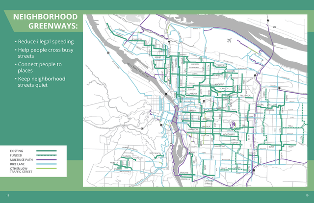 Neighborhood Greenways 2020 Map