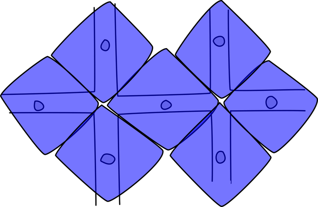 Demonstration of polygons surrounding street midpoints
