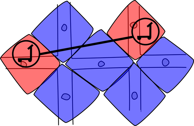 Demonstration of polygons surrounding street midpoints and a route intersecting them