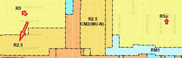 image from zoning and portlandmaps.com